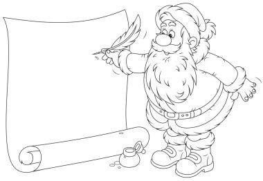 Santa Claus writing