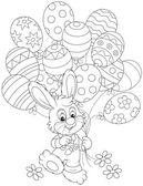 Velikonoční zajíček s balónky