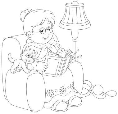 Granny reading