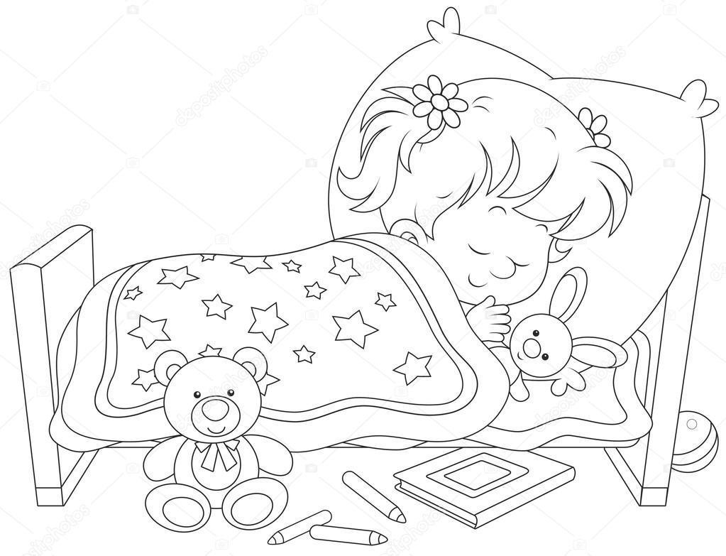 Imágenes: Niño Durmiendo Para Colorear