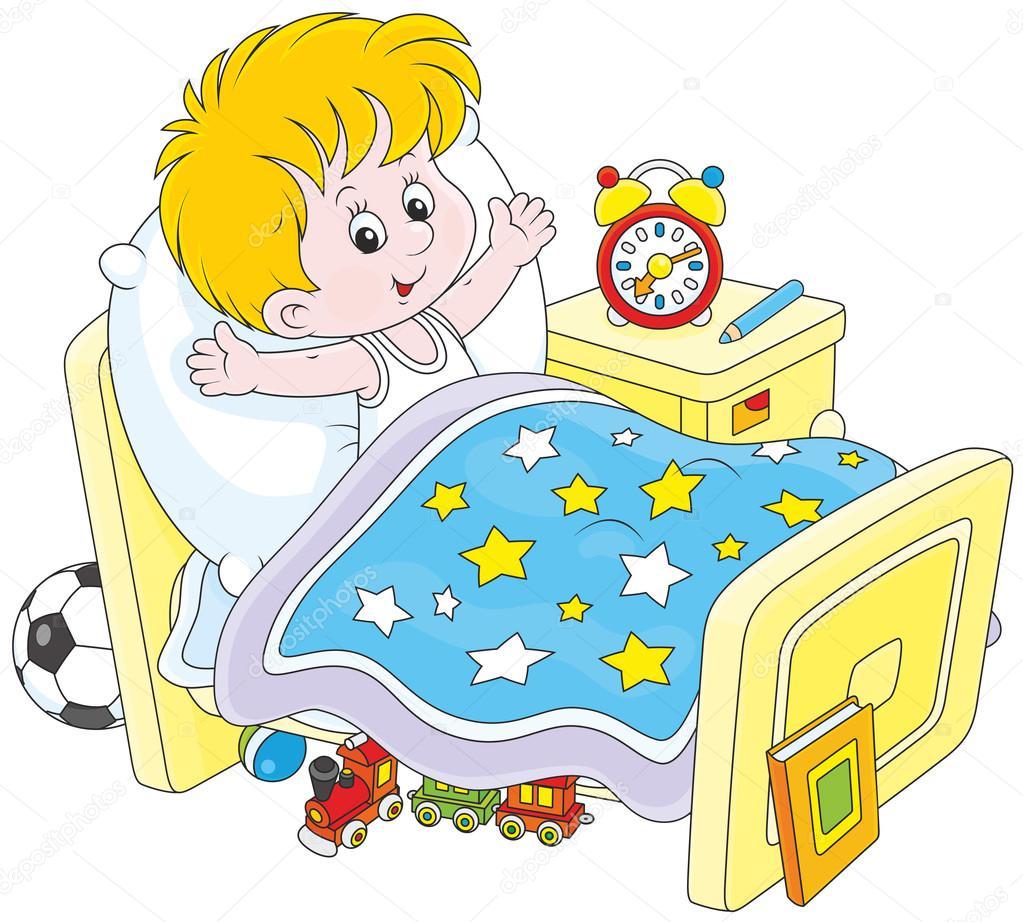 Imágenes Niño Despertando Niño Despertando Vector De Stock