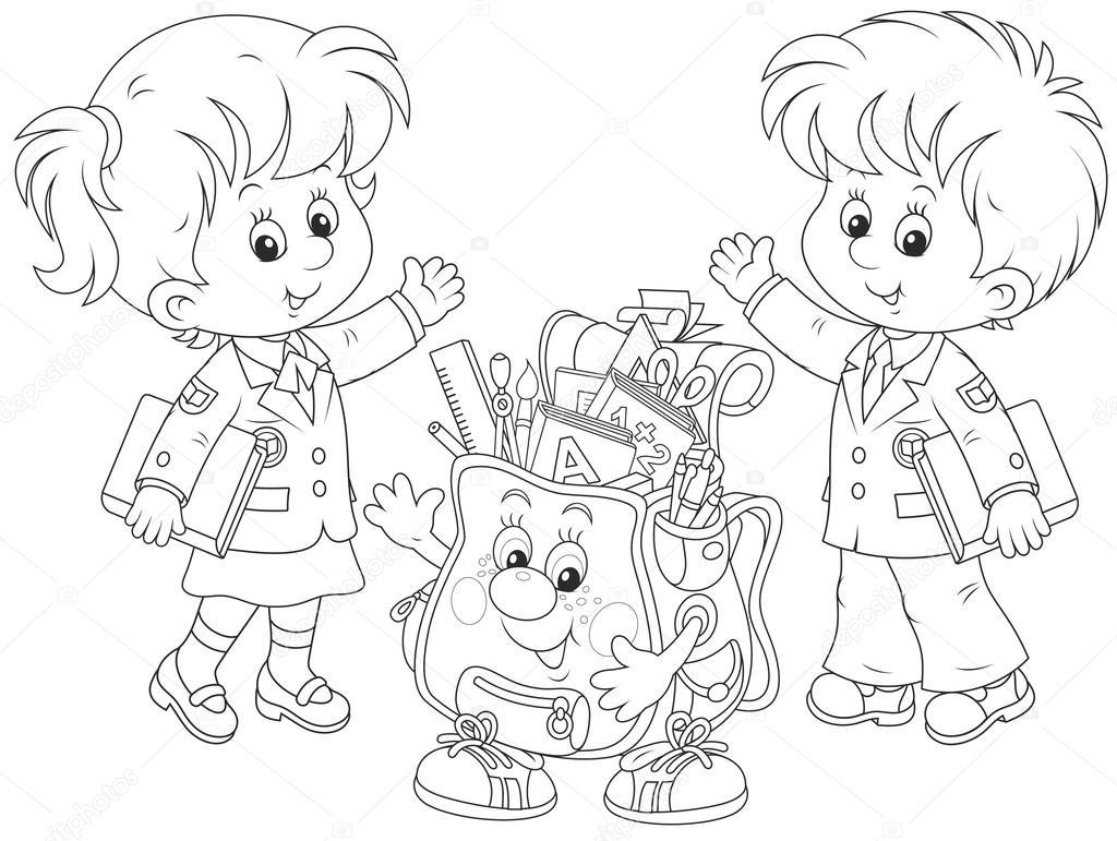 ᐈ Escuela Primaria Imágenes De Stock Dibujos Escuelas En