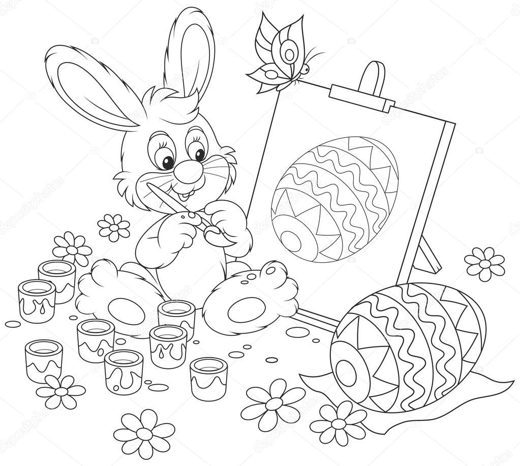 pintor de conejo de Pascua — Archivo Imágenes Vectoriales ...