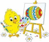 Velikonoční kuřátko malíř