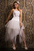 Fotografie Braut mit Breitschwert