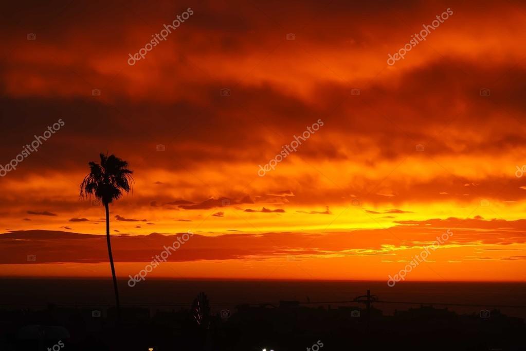 Sunset panorama above Hermosa beach
