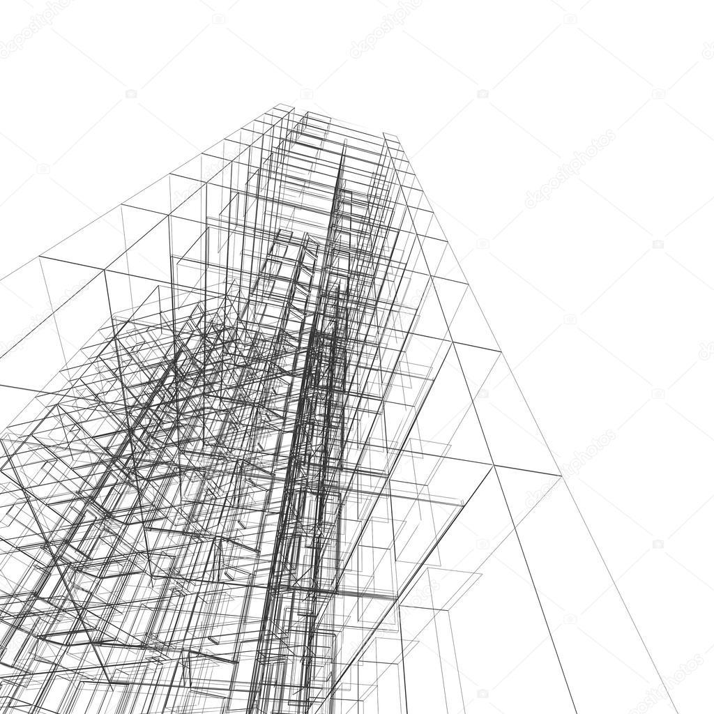 Modernes Gebäude. Architektur Design Und Mein Eigenes Modell U2014 Foto Von  1xpert
