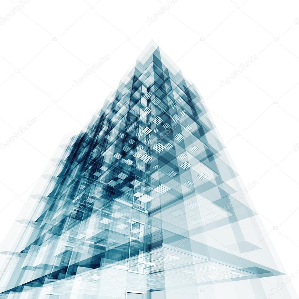 Perfect Abstrakte Gebäude. Architektur Entwerfen Und Mein Eigenes Modell U2014 Foto Von  1xpert