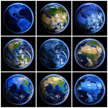 Earth globe set