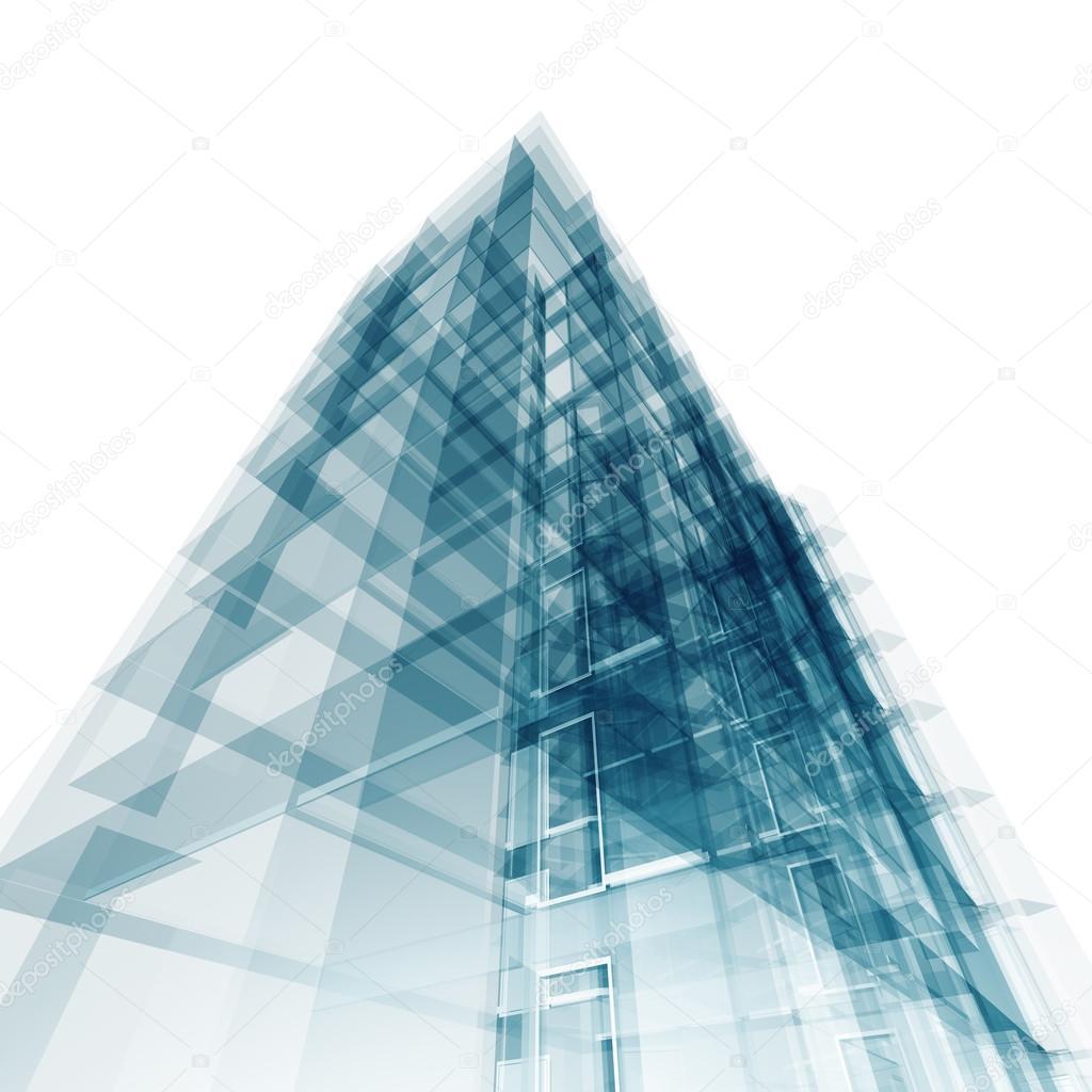 Exceptional Abstrakte Gebäude. Architektur Entwerfen Und Mein Eigenes Modell U2014 Foto Von  1xpert