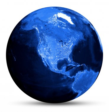 America blue map