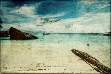 Art vintage beach