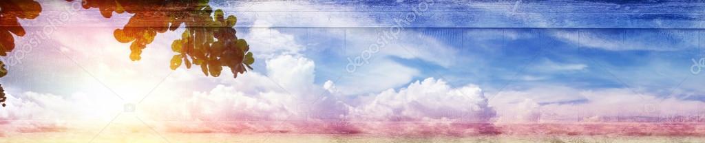 Vintage canvas sky