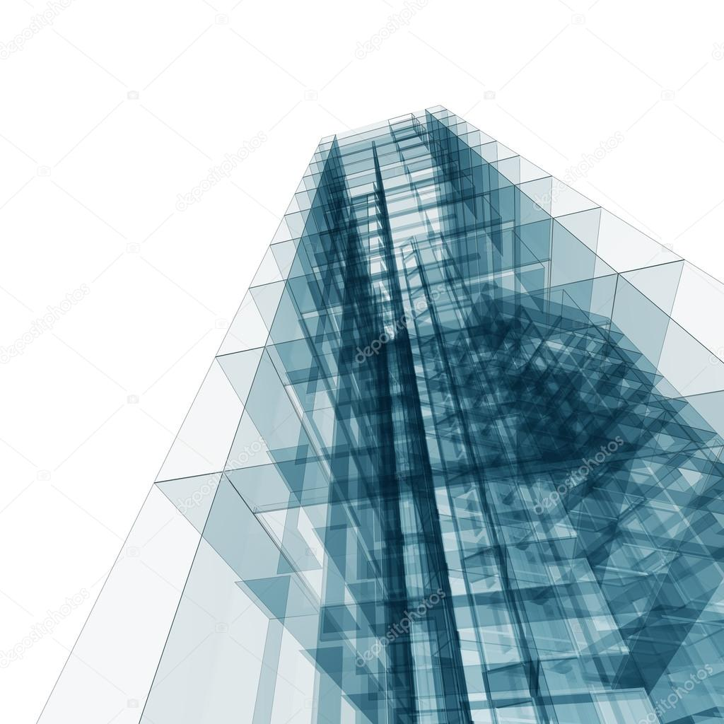 High Quality Abstrakte Gebäude. Architektur Entwerfen Und Mein Eigenes Modell U2014 Foto Von  1xpert