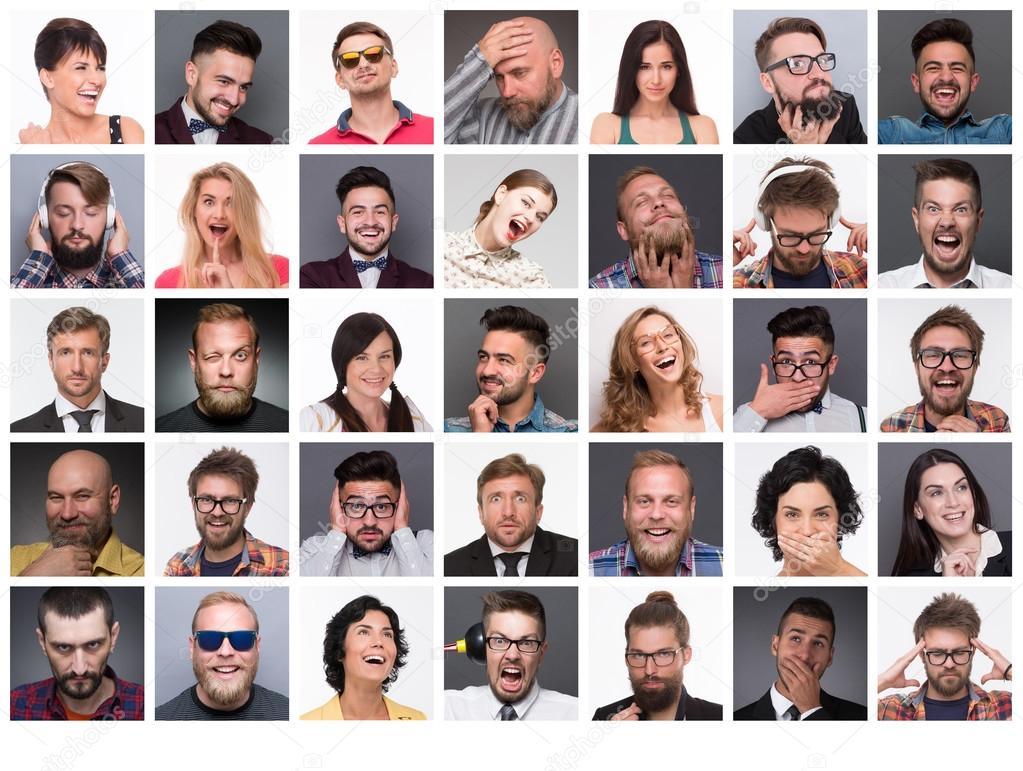 Personas Con Diferentes Emociones Fotos De Stock Svyatoslavlipik