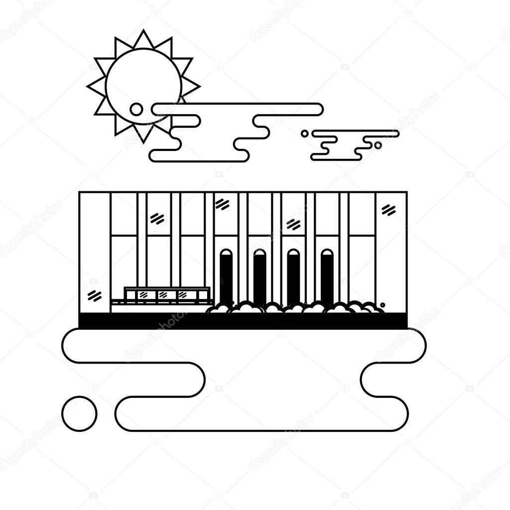 Water Dam vector image