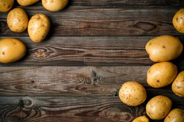 Bunch of potatoes, close up
