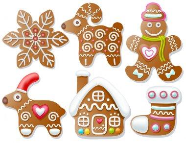 Set of gingerbread