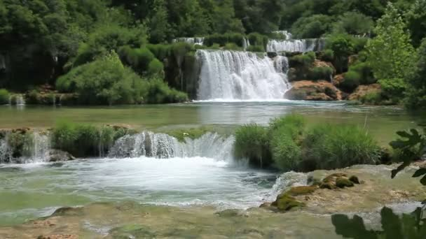 Waterfall in national park Krka, Croatia