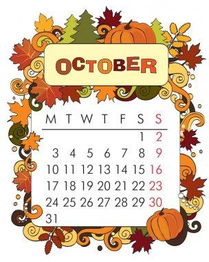 Decorative Frame for calendar - October