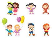 Photo Cartoon drawings of children
