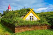 Photo House roofed by turf and grass