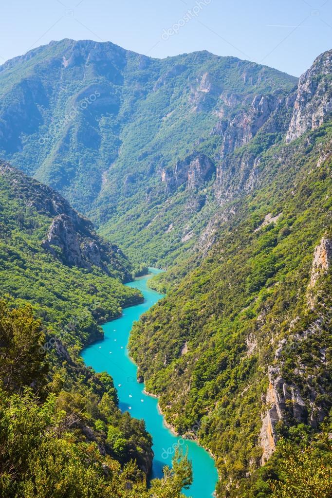 Emerald water canyon Verdon