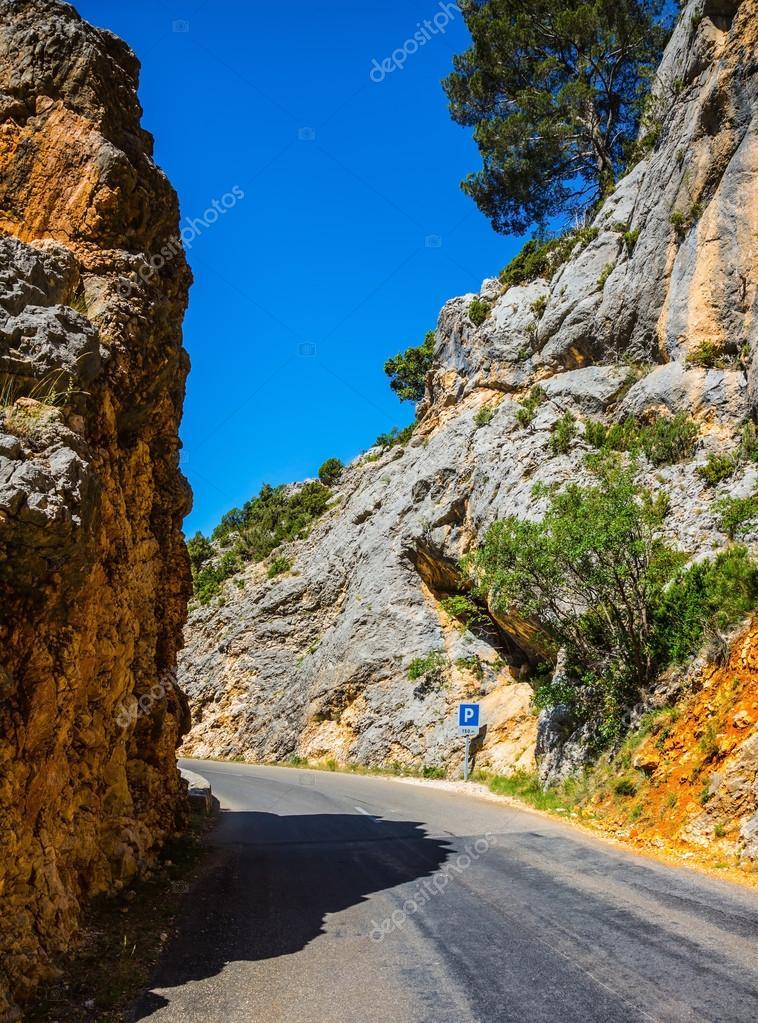 Sharp mountain road