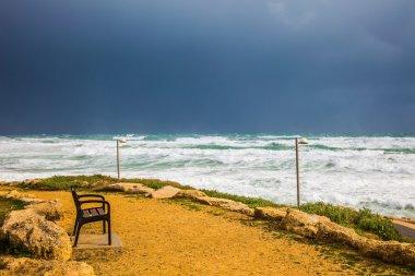 The Mediterranean Sea rages