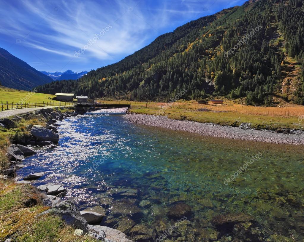 Austrian Alps in midday sun