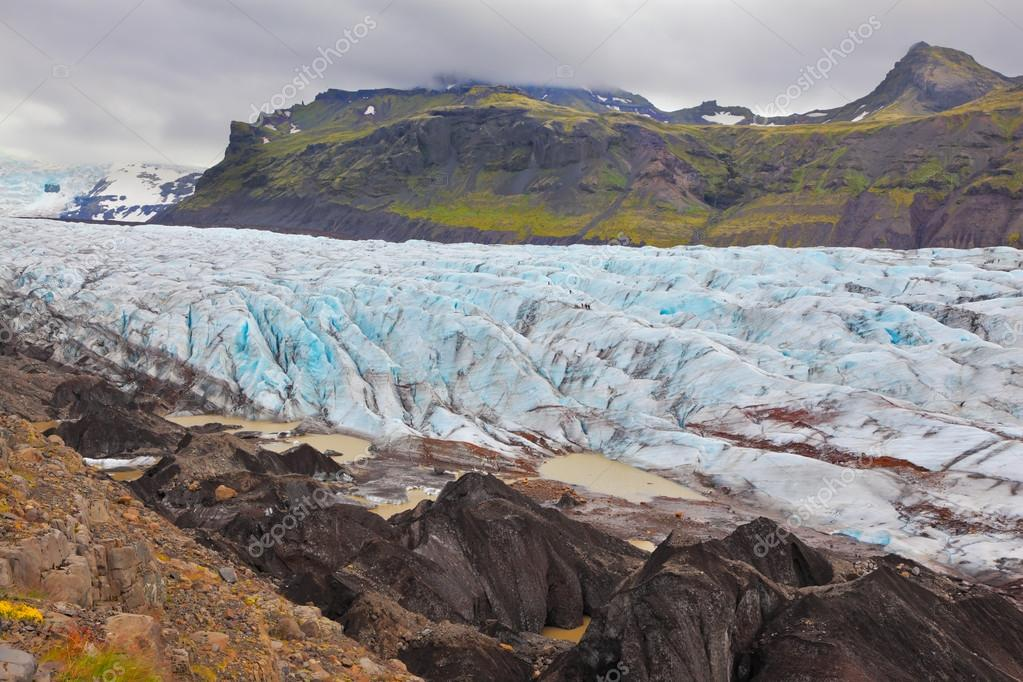 Blue ice in Skaftafell National Park