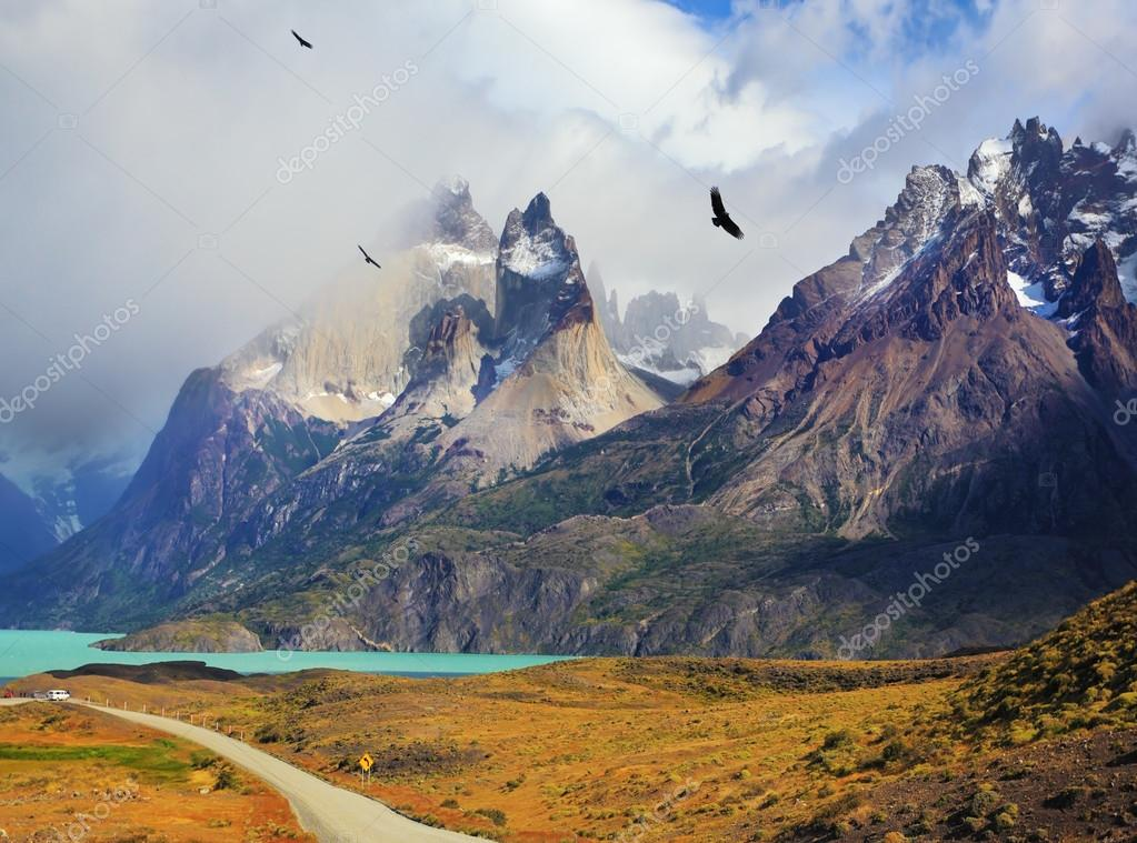 Summer day in the national park Torres del Paine