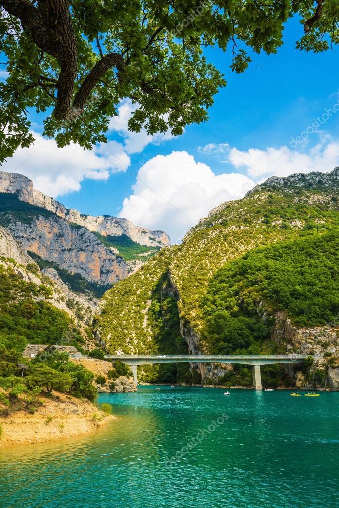 Big bridge over river