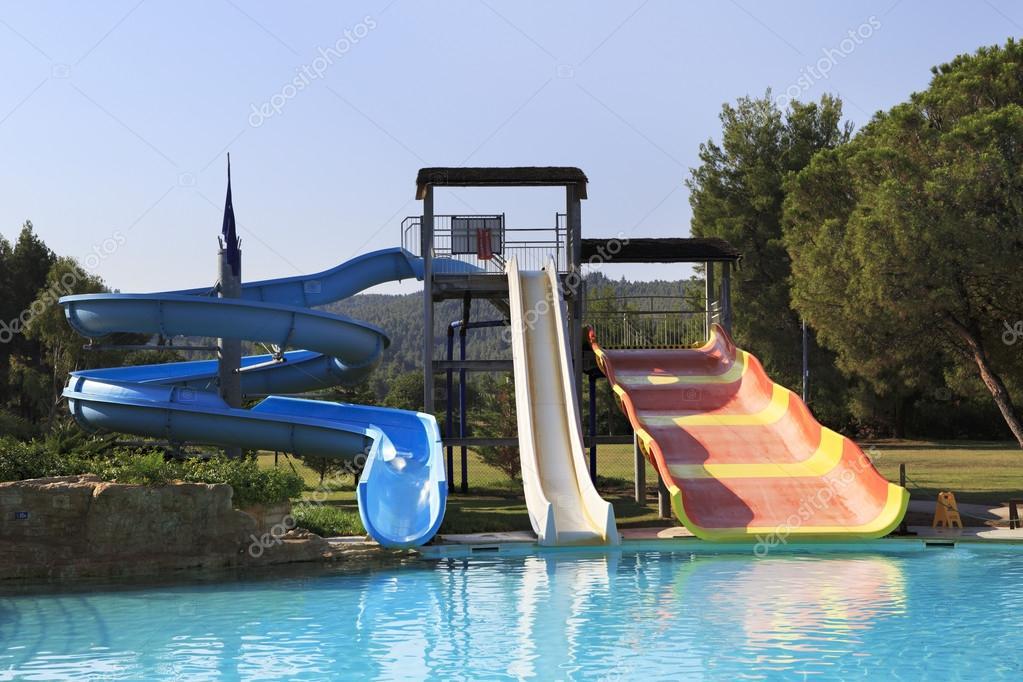 Water slides at Porto Carras Sithonia.
