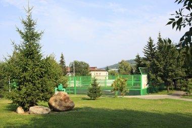 Playground for tennis in the Sanatorium Belokuriha