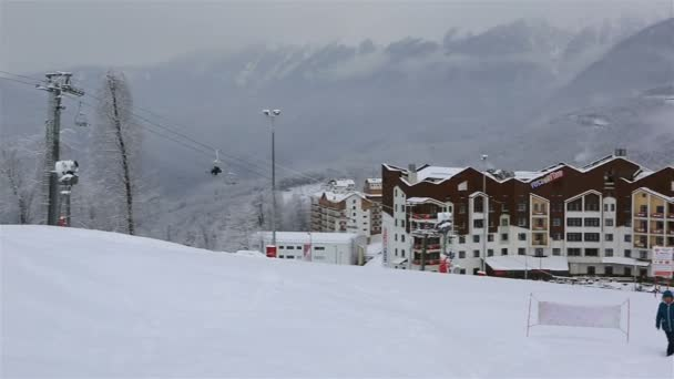 Priyut Pandy and Hotel Riders Lodge in Rosa Khutor plateau