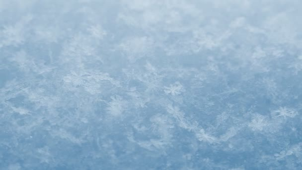 Schnee. Makro. Winterlicher Hintergrund