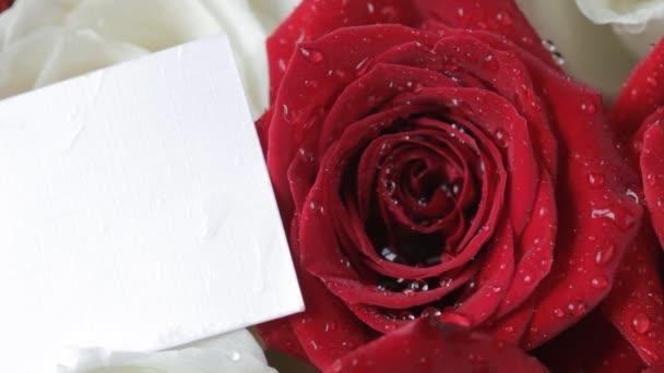 Karta na růže. Zblízka.