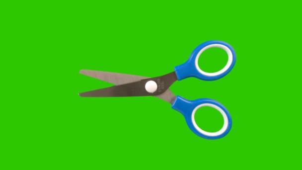 Olló, egy zöld képernyő háttér animációs