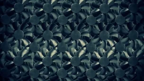 Fan turbine egy sötét felszín mögött. Animáció.