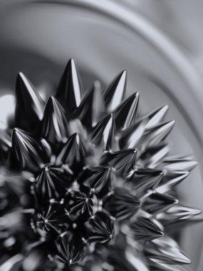 Ferrofluid. Close-up.