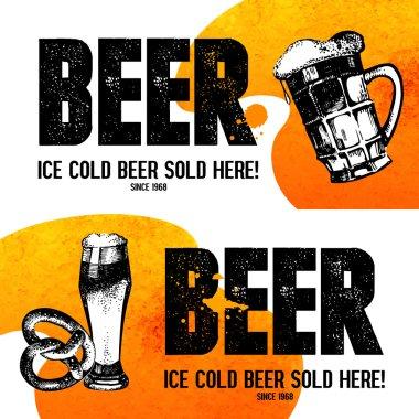 Banners of Oktoberfest beer design.