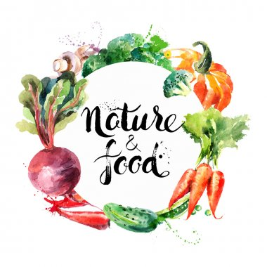 Eco food menu background.