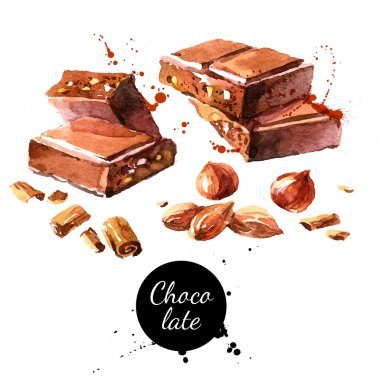 pieces of chocolate and nuts
