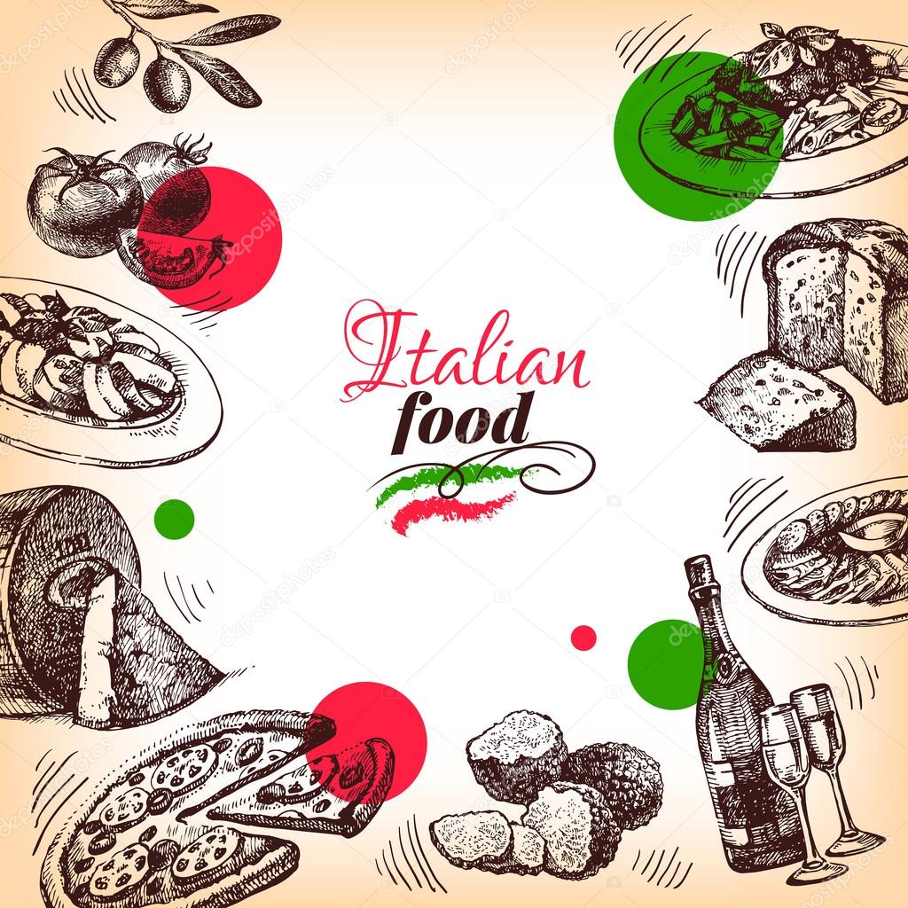 Disegno del menu della cucina italiana vettoriali stock for Disegno cucina