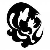 Fényképek anya és a baba sziluett szimbólum