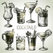 Satz von alkoholische cocktails