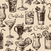 Bezešvé pattern alkoholických koktejlů