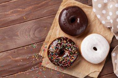 Three tasty donuts
