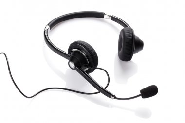 Helpdesk headset on white